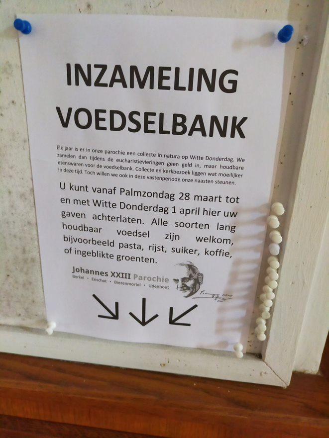 Voedselbank inzameling poster in Berkel 2021